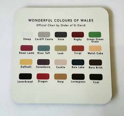 Wonderful Colours of Wales Coaster