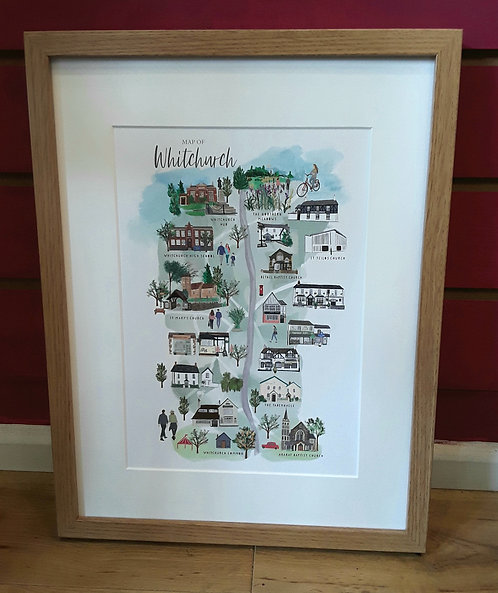 Framed Whitchurch Map