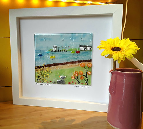 Fused Glass Picture  -Mumbles Swansea