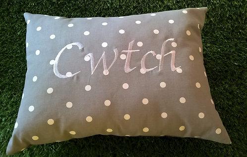 Cwtch Cushion Grey Spot