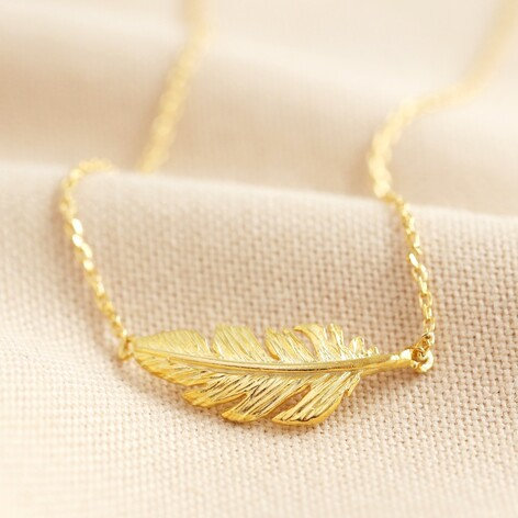 Gold Feather Necklace