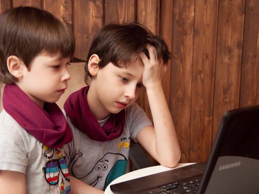 Niños atrapados en las redes