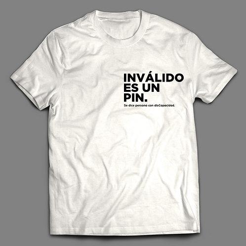 Camisa Hombre Frase: Inválido es un PIN Colección: Camisas con conciencia