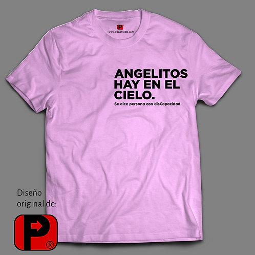 Camisa Hombre Frase: Angelitos hay en el cielo