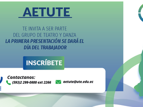 Invitación - Forma parte del grupo de danza y teatro Administrativo UTE
