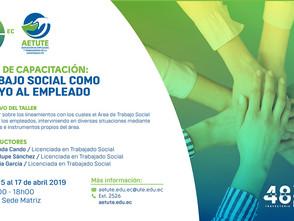 Invitación: Taller: Trabajo Social como apoyo al empleado