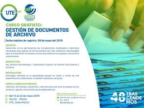 Invitación: Gestión de documentos de archivo