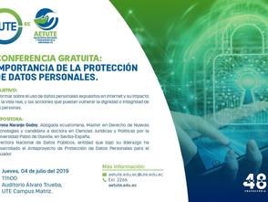 """Conferencia: """"Importancia de la protección de datos personales"""""""