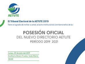 Posesión oficial Directorio AETUTE 2019-2021