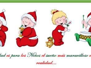 Festejo navideño de niños