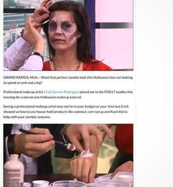 TB transforming _jackieonair on Zombie #zombiemakeup #halloween #makeup #makeuptransformation #diy #