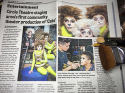 Feature Article __CATS_ coming to Circle Theater. _I had the pleasure to put together the Makeup loo