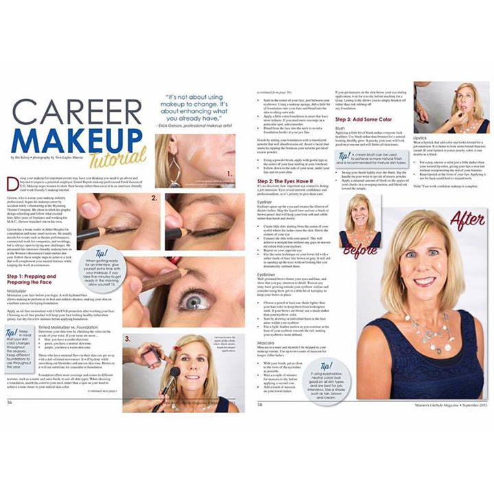 My makeup publication on Women's lifestyle Magazine. September 2015 issue on stands today