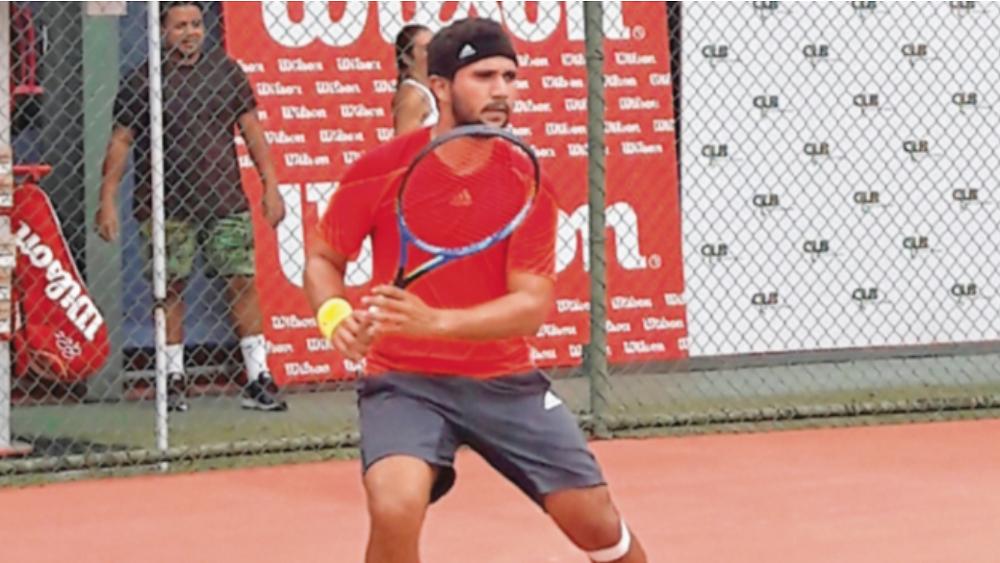 José Gilberto Gómez en una de sus prácticas.