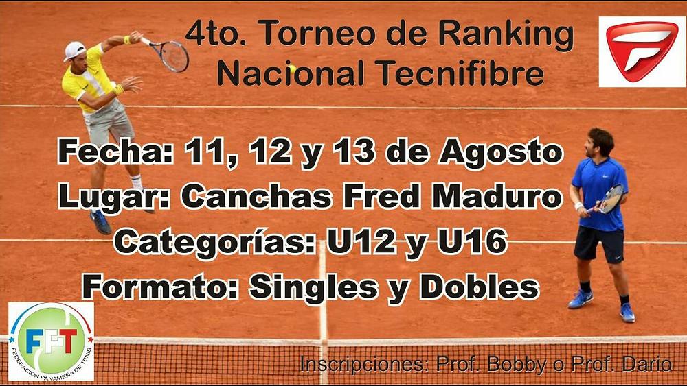 4to. Torneo de Ranking Nacional Tecnifibre