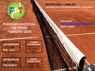 Ranking Nacional Febrero 2019