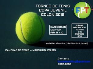 Torneo de Tenis Copa Juvenil 2019 - Colón