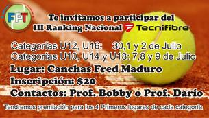 III Ranking Nacional TecniFibre
