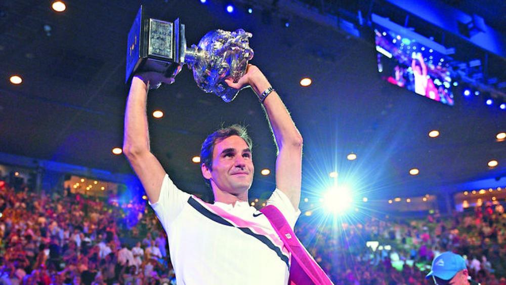 El suizo se llevó el domingo el título del Abierto de Australia.