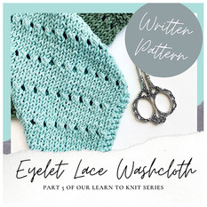 Eyelet Lace Washcloth - Free Knitting Pattern