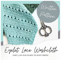 Eyelet Lace Washcloth - Free Knitting Pattern