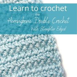 Herringbone Double Crochet Tutorial from Handmade by Stacy J