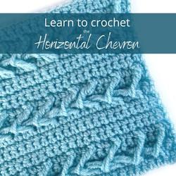 Horizontal Chevron Crochet Tutorial from Handmade by Stacy J