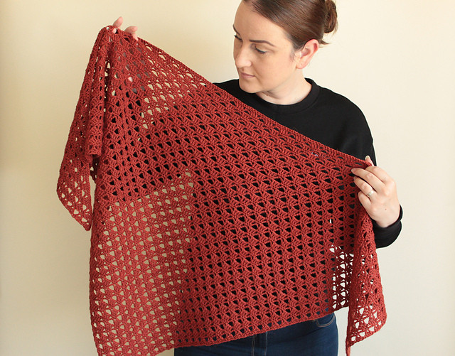 Beatrix Triangle Crochet Shawl by Blue Star Crochet