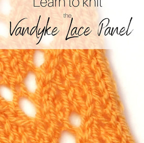 Knitting Tutorial Thursday - Vandyke Lace
