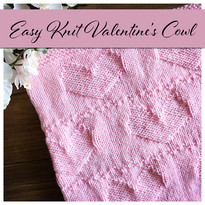 Easy Knit Valentine's Cowl