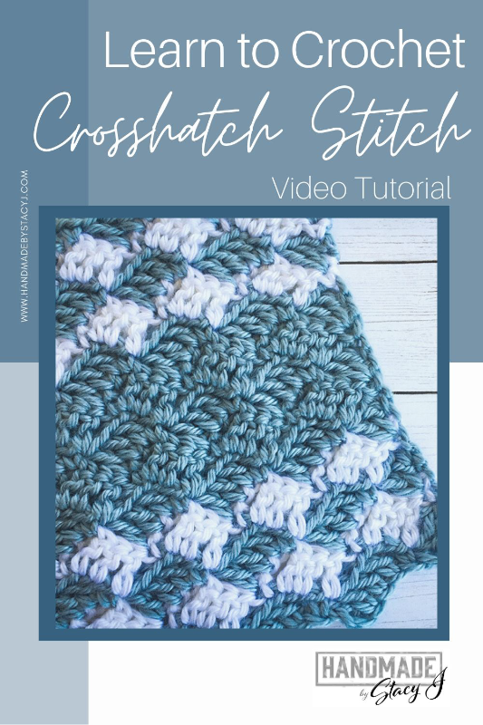 Image of Crocheted Crosshatch stitch by Handmade by Stacy J