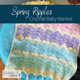 Spring Ripples Baby Blanket by Handmade by Stacy J