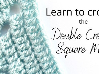 Learn how to crochet the Double Crochet Square Motif