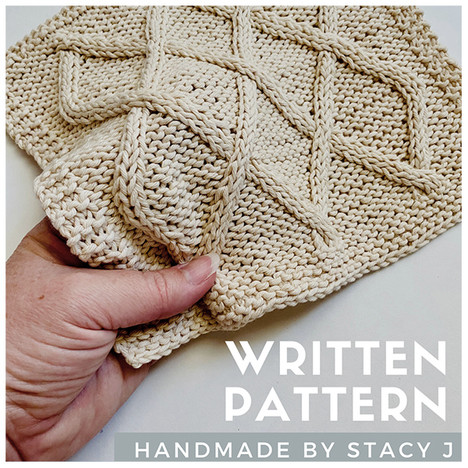 Lattice Cable Dishcloth by Handmade by Stacy J