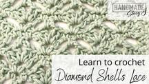 Diamond Shells Lace - Learn to Crochet