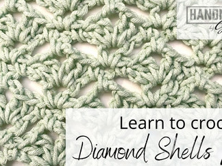 Diamond Shells Lace - Learn to Crochet