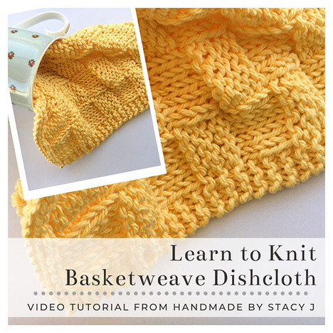 Learn to Knit - Basketweave Dishcloth