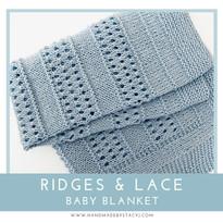 Ridges & Lace Baby Blanket
