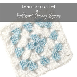 How to crochet the Traditional Granny Square