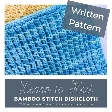 Bamboo Stich Dishcloth from Handmade by Stacy J