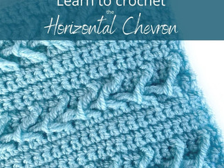 Learn to crochet the Horizontal Chevron Stitch 💕