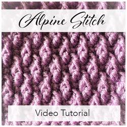 Alpine Crochet Stitch by Handmade by Stacy J