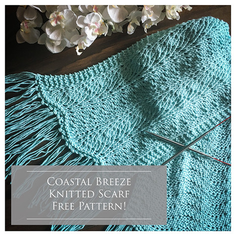 Coastal Breeze Knitted Scarf Pattern