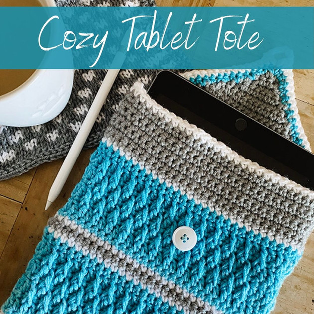 Cozy Tablet Tote - Crochet Pattern