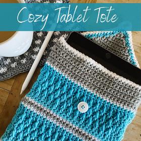 Cozy Tablet Tote - Crochet Pattern