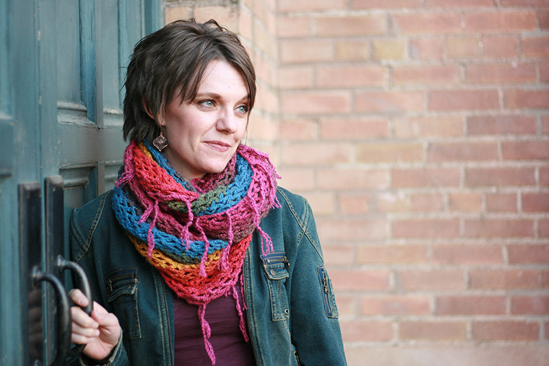 Infinite Hues Crochet Scarf by Jen Hayes Creations