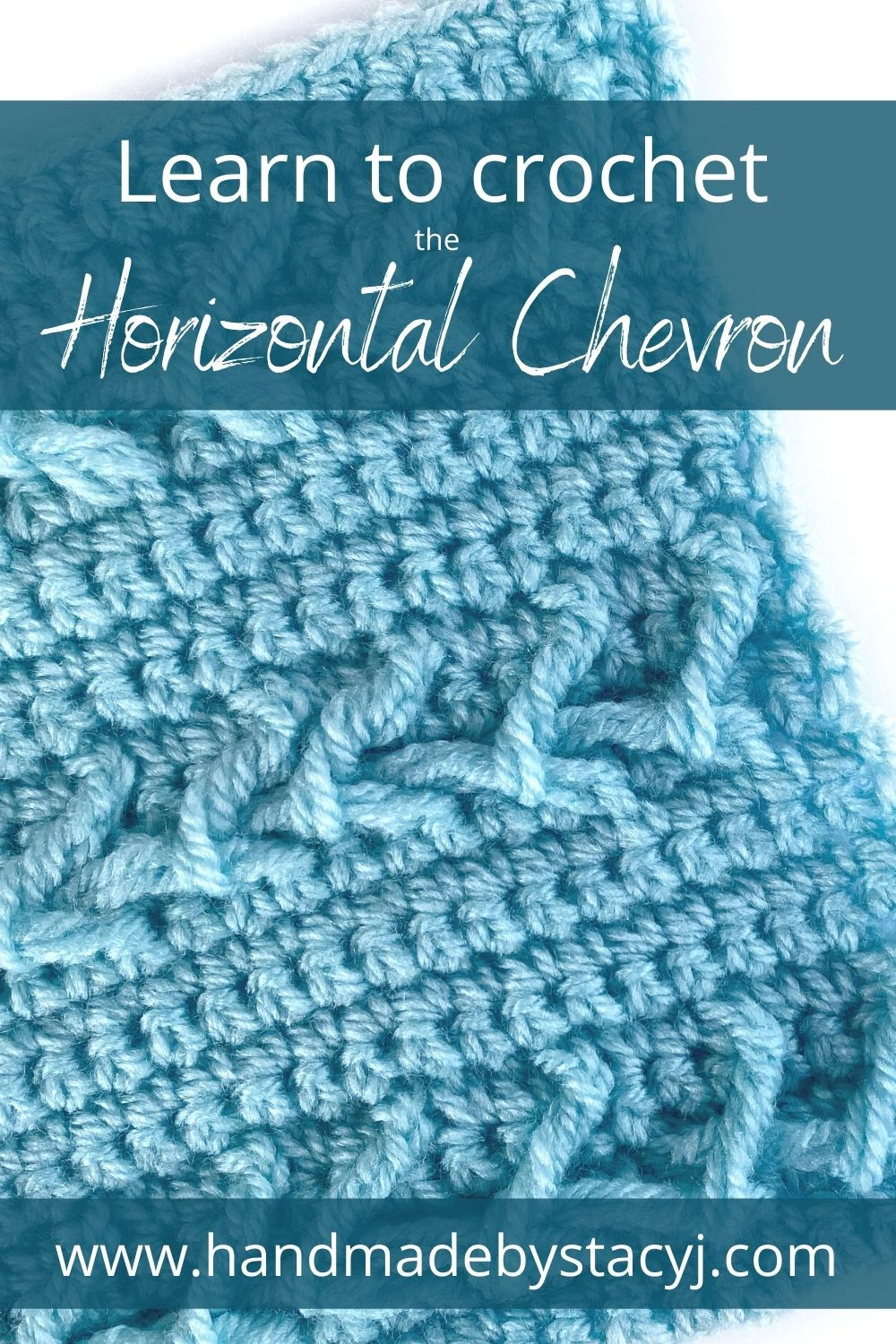 Image of crocheted Horizontal Chevron stitch by Handmade by Stacy J