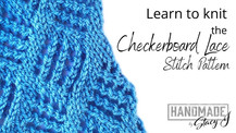 Checkerboard Lace - Learn to Knit - Continental Style
