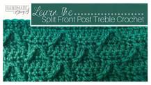 Split Front Post Treble Crochet (Modified Prong Stitch)