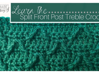 Split Front Post Treble Crochet (Modified Prong Stitch)